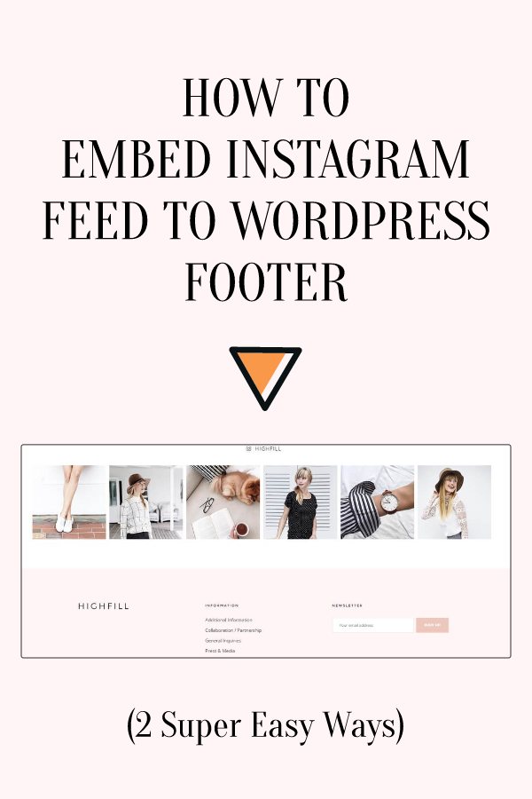 How To Embed Instagram Feed to WordPress Footer