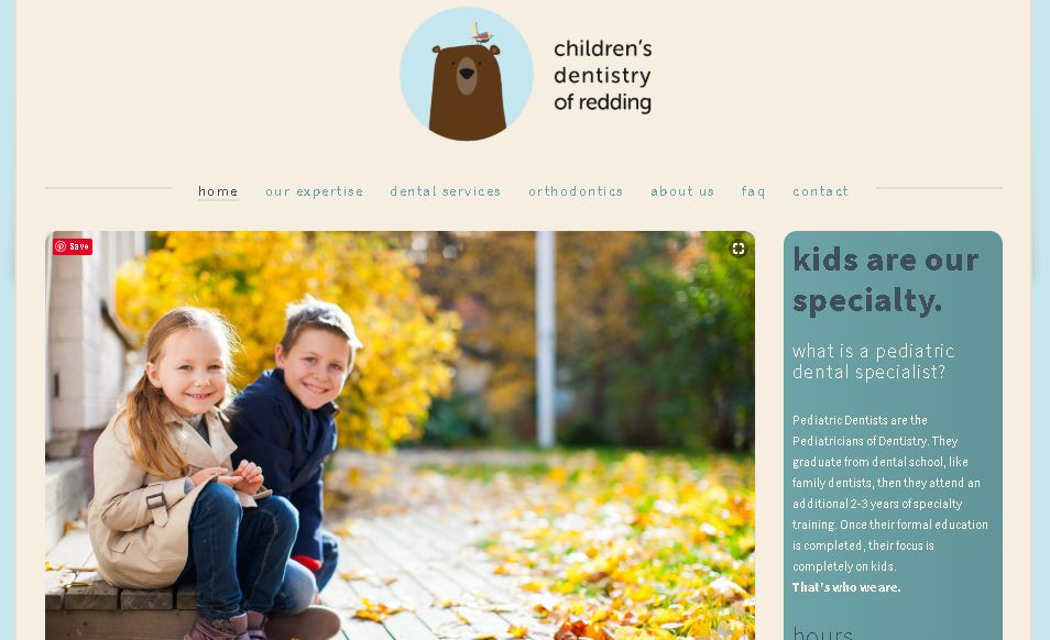Smile Redding small business website examples