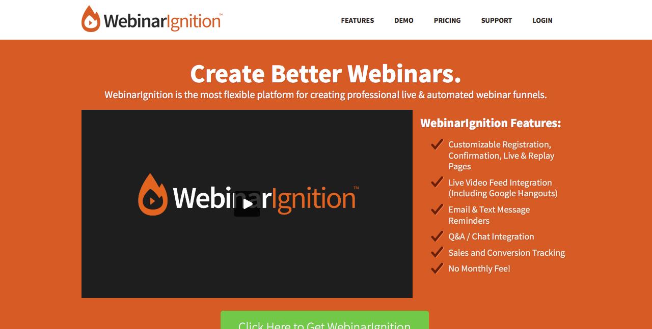 WebinarIgnition Review Demo